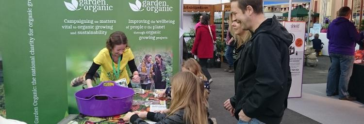 Sowing seeds at The Edible Garden Show