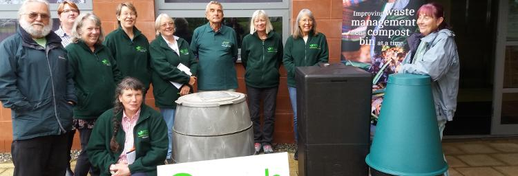 Cumbria Master Composter team at home composting training