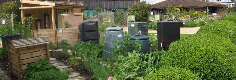 Garden Organic's composting display area